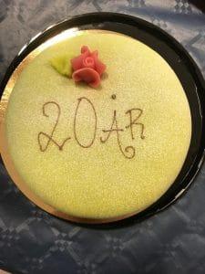 20-årsjubileum med tårta